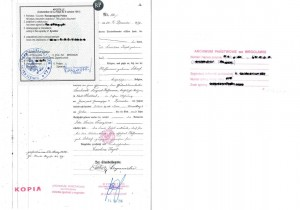 Geburtsurkunden aus polnischen Archiven versehen mit einer Apostille - Geburtsurkunden aus polnischen Staatsarchiven versehen mit einer Apostille